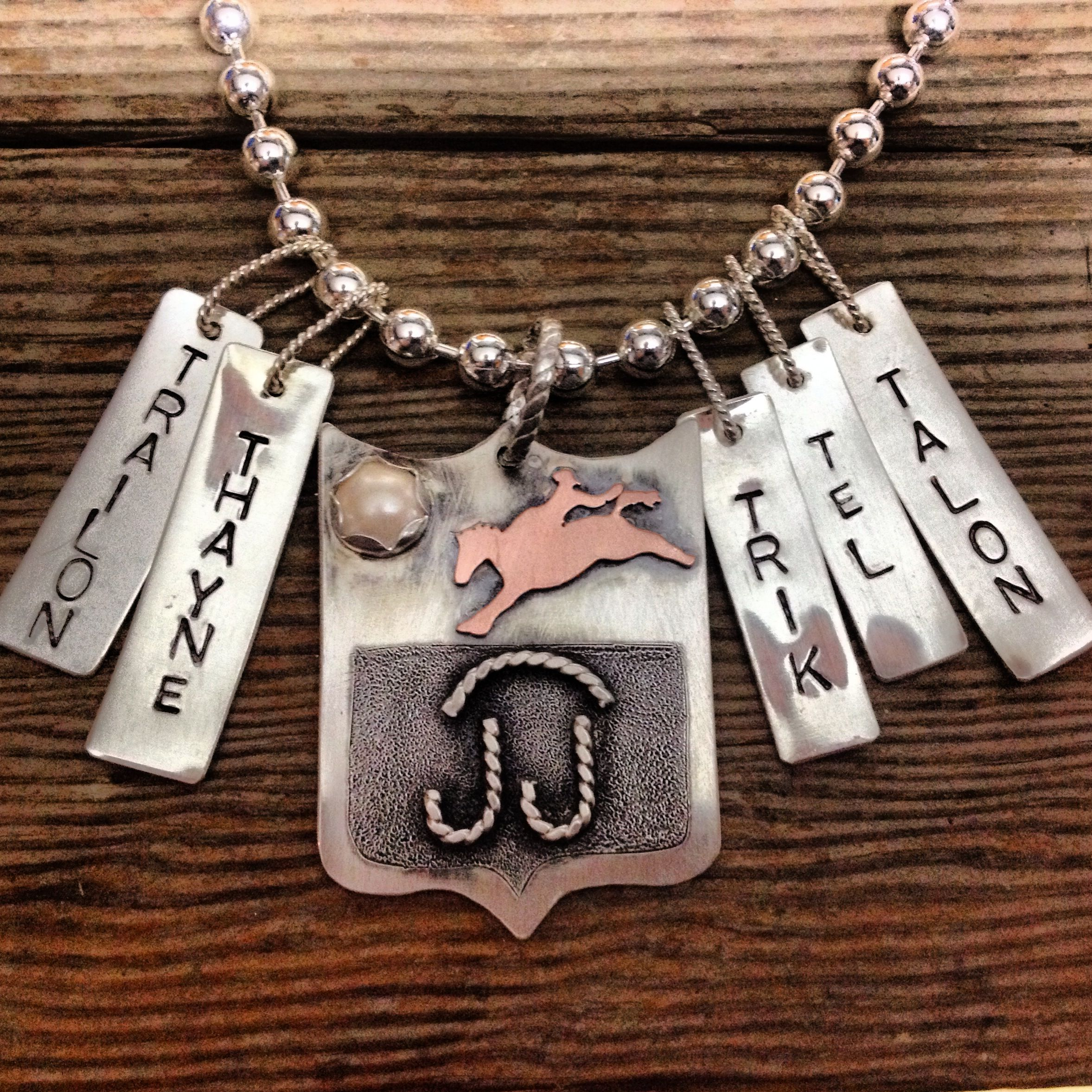 Ranch brand mothers necklace by Silo Silver. www.facebook.com/silosilver