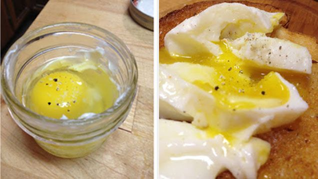 Poach Eggs Perfectly In A Mason Jar Mason Jar Meals How To Cook Eggs Poached Eggs