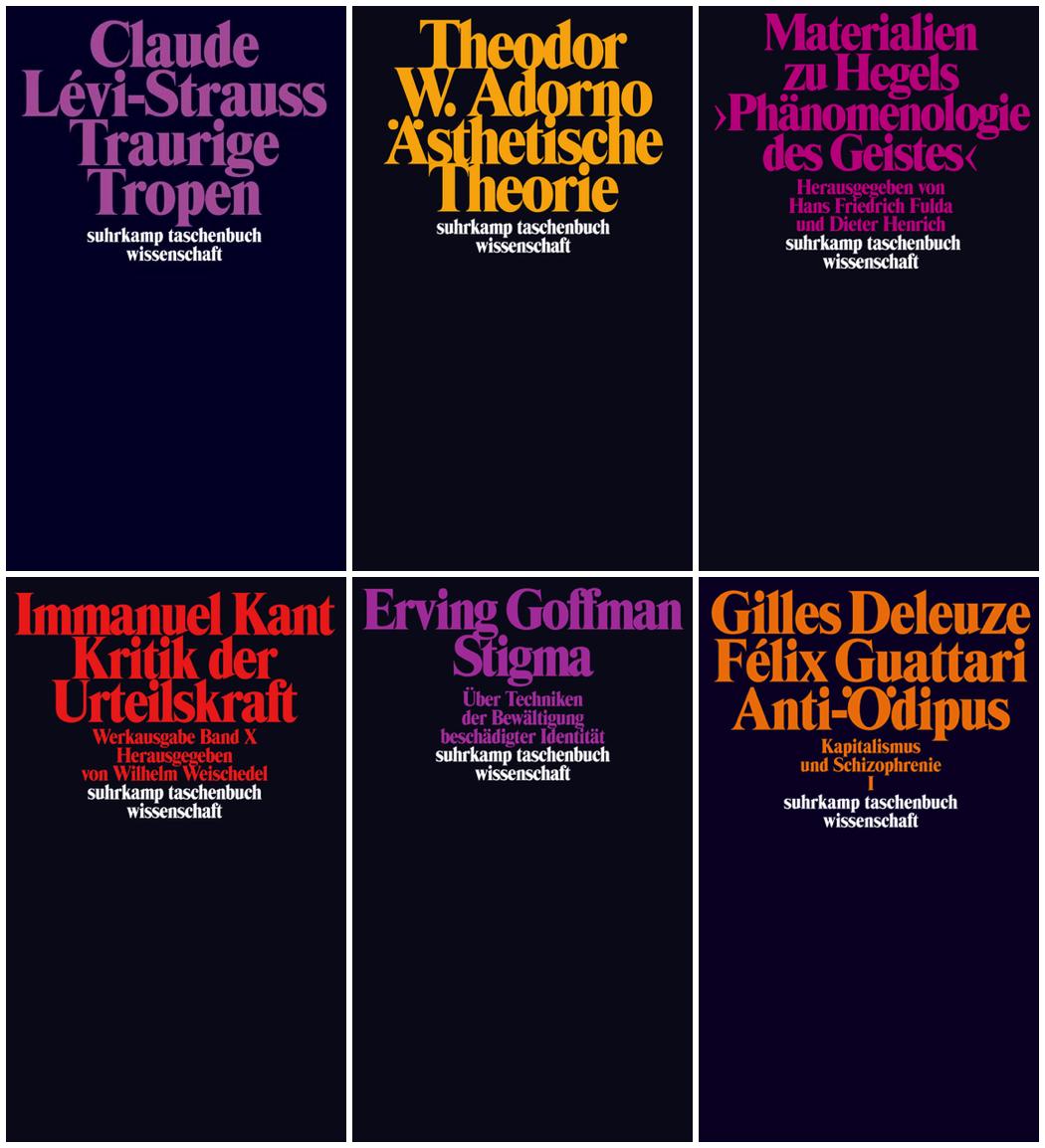 Tight leading, old school font Times Modern Suhrkamp Taschenbuch Wissenschaft series