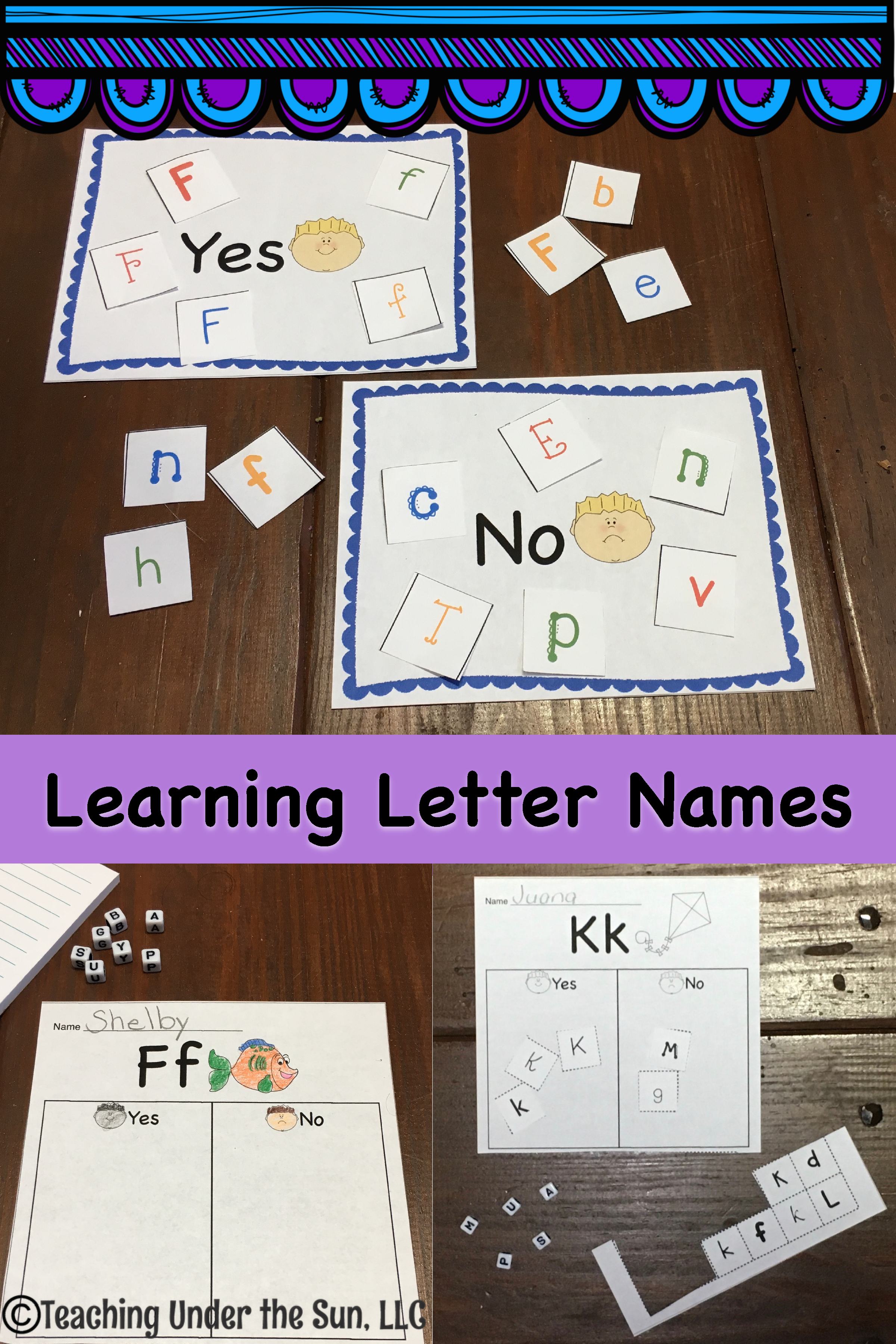 Alphabet Activities Letter Names And Recognition Sorting