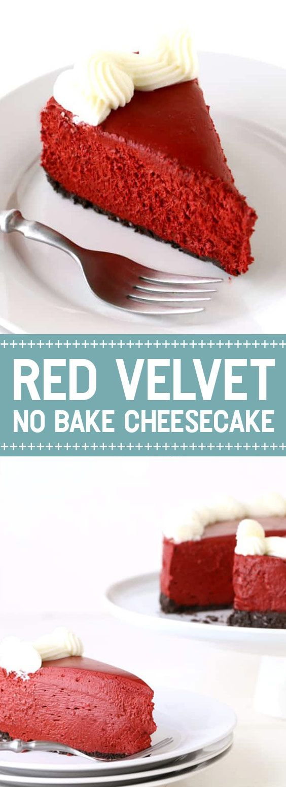 Red Velvet No Bake Cheesecake | These Red Velvet Cheesecake are No baking, no testing to see if it's done. | ub Red Velvet No Bake Cheesecake | These Red Velvet Cheesecake are No baking, no testing to see if it's done. | ub