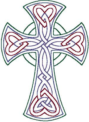 Redwork celtic trinity knot cross embroidery design celtic redwork celtic trinity knot cross machine embroidery design learn even more at voltagebd Images