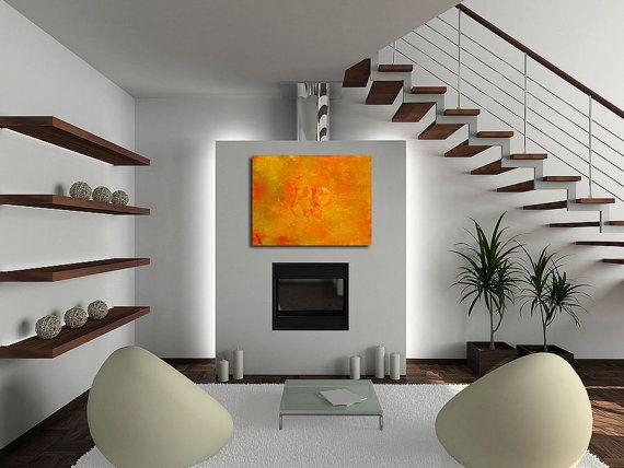Resin Art Original Abstract Painting Orange Ya Glad 30 X 40