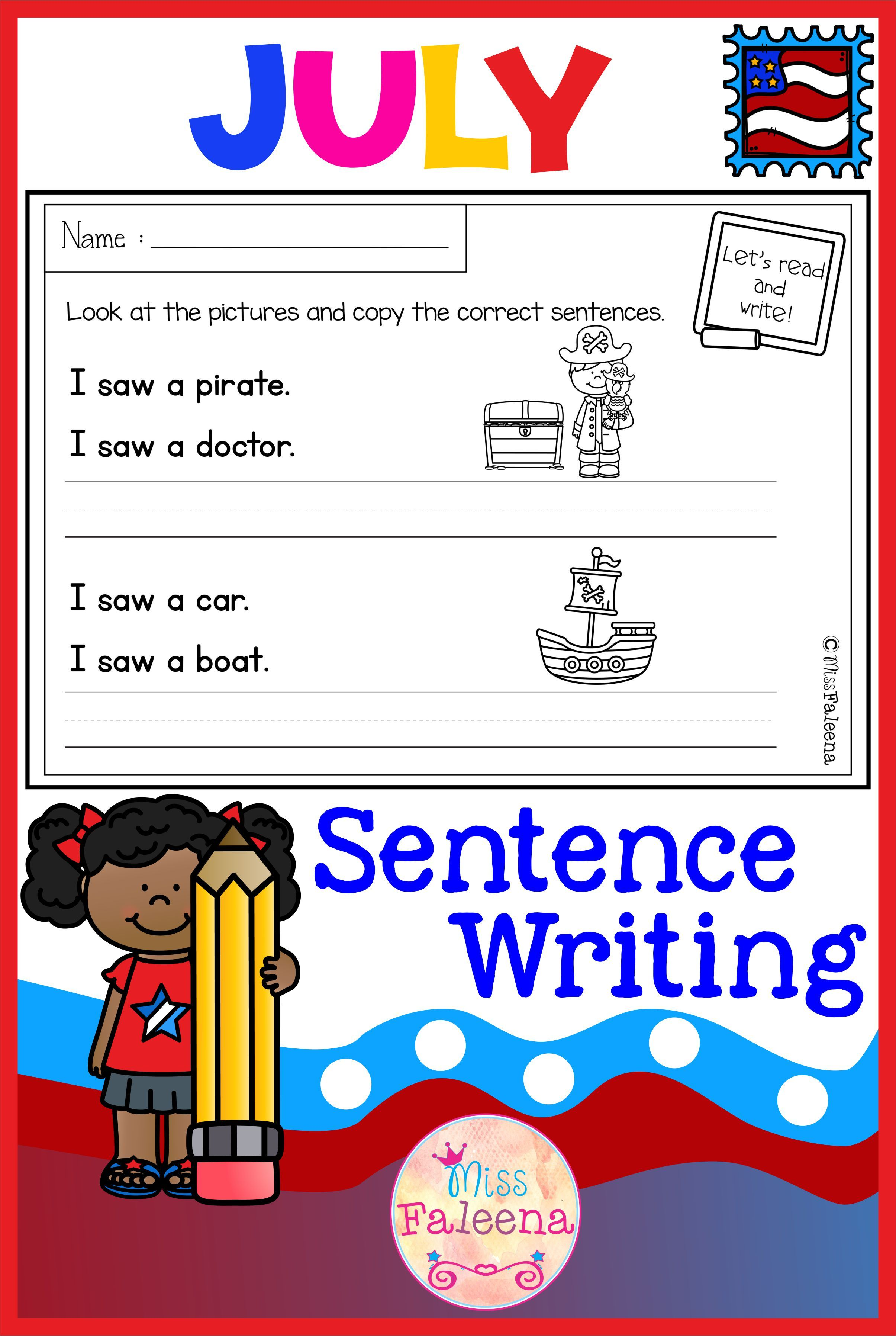 There Are 20 Pages Of Sentence Writing Worksheets In This Product These Pages Are Great Fo Writing Practice Worksheets Writing Worksheets Kindergarten Writing [ 2514 x 3526 Pixel ]