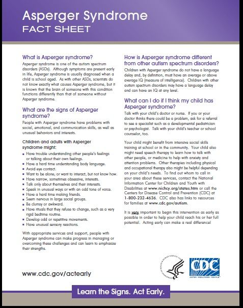 Asperger Syndrome Fact sheet \/ I am working really hard right now - sample fact sheets