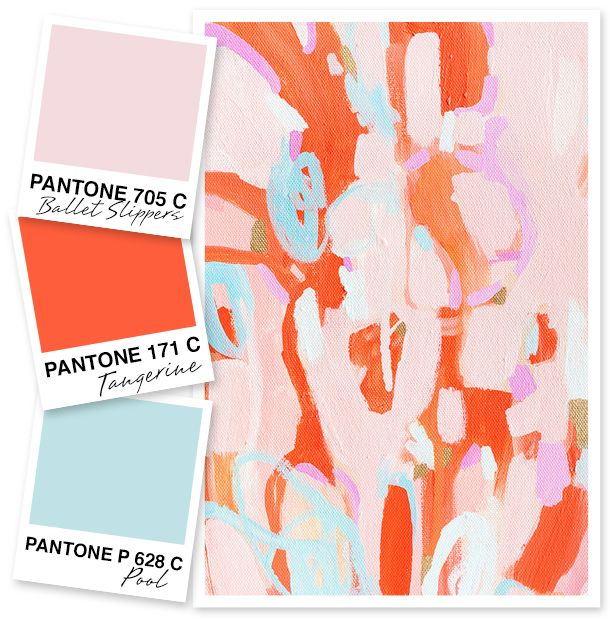Pale Pink Orange And Blue Color Palette