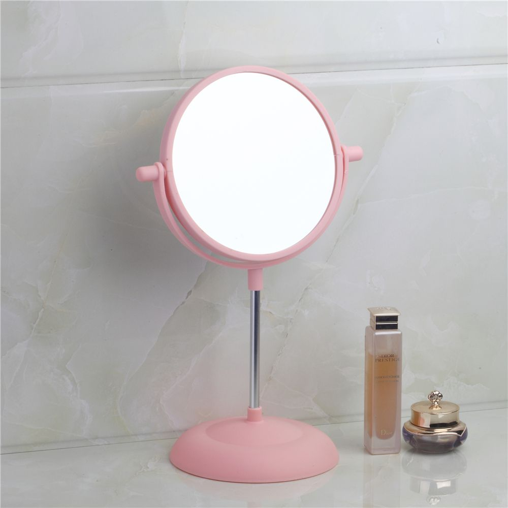 Bathroom Mirrors Pink Bath Mirrors Plastic Rotatable Magnifier ...