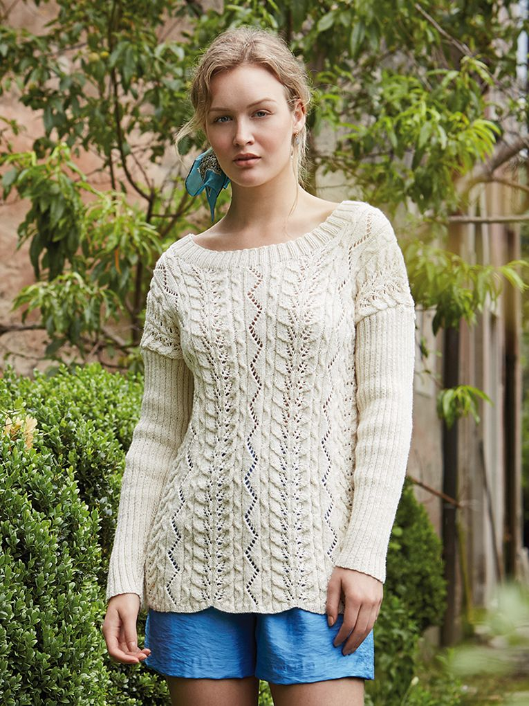 Catarina Knit This Womans Cable Jumper From Rowan Knitting