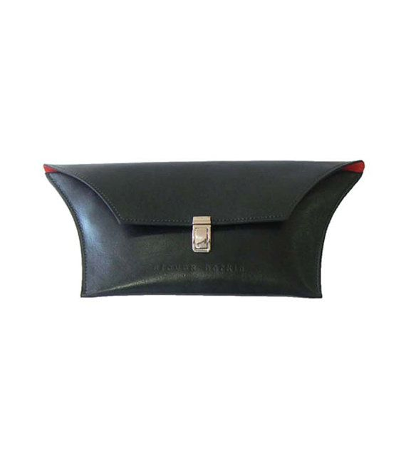 Funky Black Clutch Bag with Red Lining  от StevenHarkinHandBags
