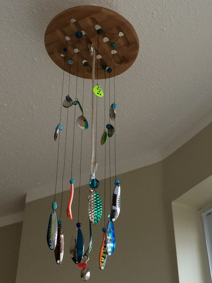 Fishing Lure Wind Chime Fish Mobile Diy Fishing Lures Fishing Room