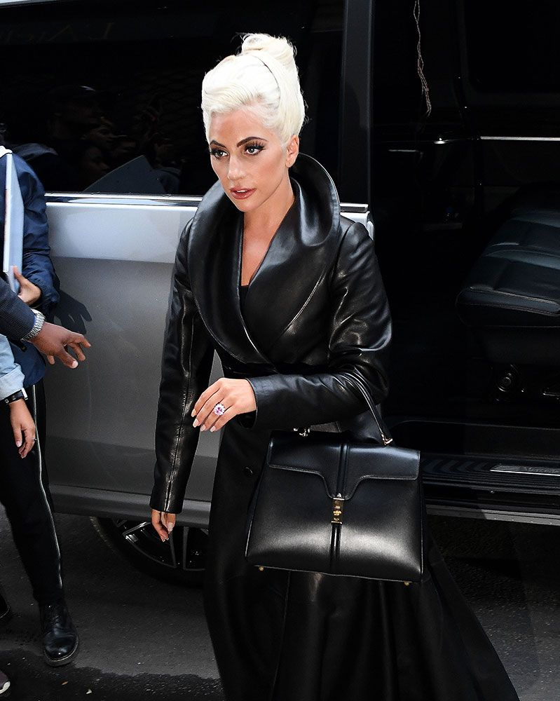 86c25e206c8d Hedi Slimane s First Céline Bag Debuts on the Arm of Lady Gaga - PurseBlog
