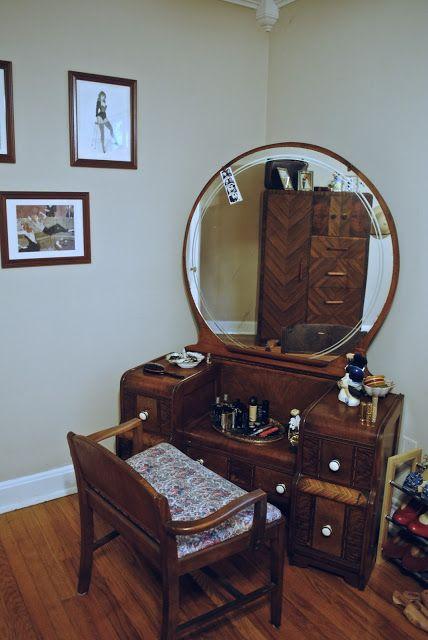 Waterfall Vanity See Dresser In Mirror In 2019 1930s