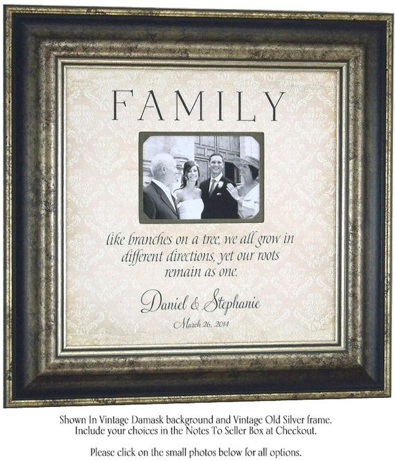 Wedding Picture Frame Sign Parents FAMILY Bridal Shower Anniversary Gift By PhotoFrameOriginals