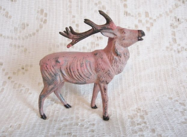 "Early Metal Reindeer 3.5"" tall Japan ~ SOLD"