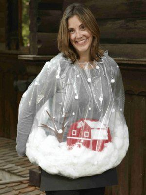 Snow globe costume ... NOT for children due to the DANGER of a plastic bag...  I'm just saying !!!!