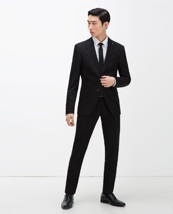 zara man black suit formals pinterest black suits. Black Bedroom Furniture Sets. Home Design Ideas