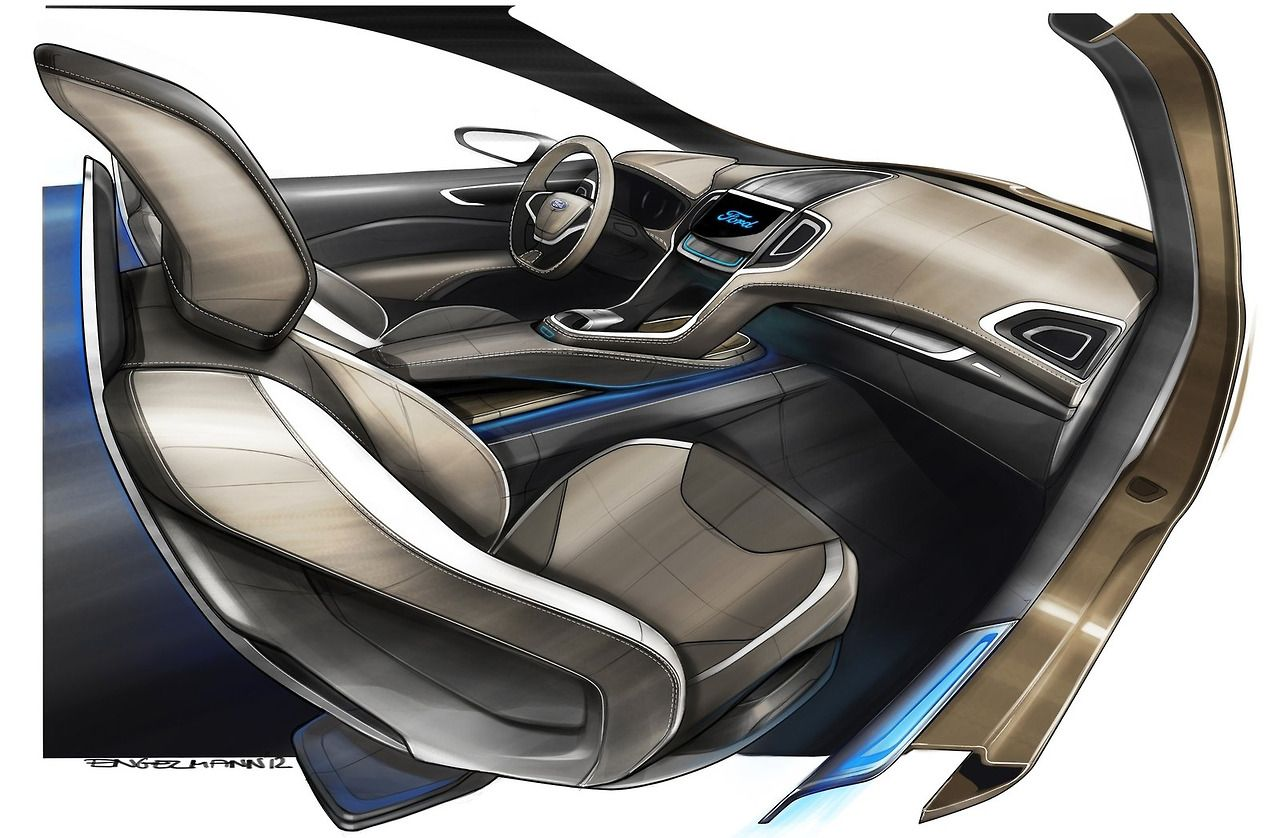 Ford S Max Concept Design Gallery Car Interior Design Sketch