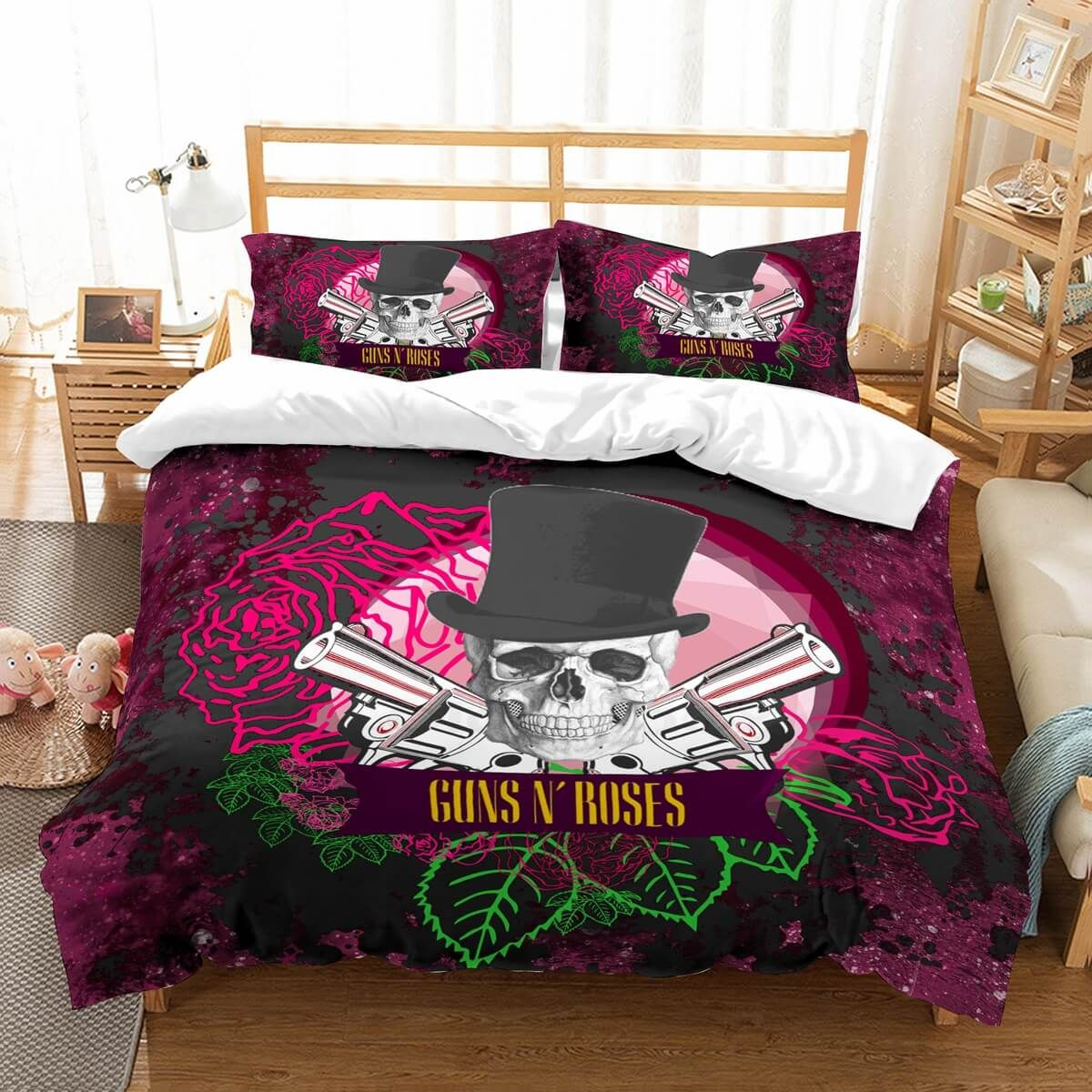 3D Customize Guns N\' Roses Bedding Set Duvet Cover Set ...