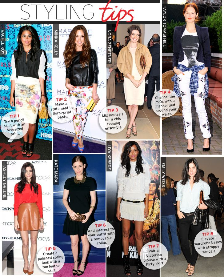 WWW: Styling Tips-April - Celebrity Style and Fashion from WhoWhatWear Outfits April spring fashion