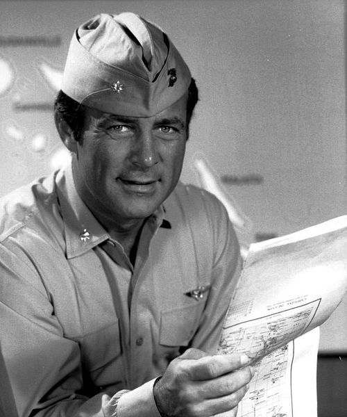 Actor Robert Conrad played Maj. 'Pappy'  Boyington on the late 70s TV series, 'Black Sheep Squadron.' Conrad turned 79 2 days ago on 3-1-14. Many boomers got to known him first on the 59-63 TV show 'Hawaiian Eye,' while younger boomers got to known him first on the mid 60s TV series 'The Wild Wild West.'