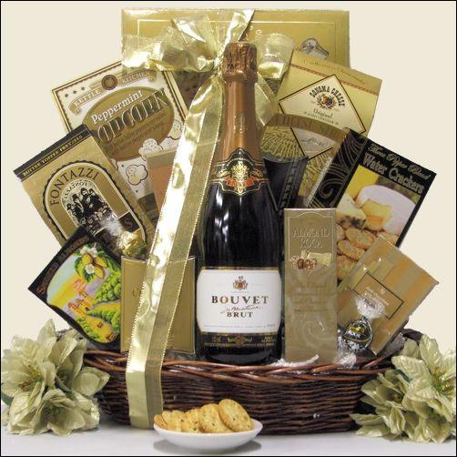 Gift Basket Villas - Bouvet Signature Brut French Sparkling Wine  ~ Elegant Expressions Gift Basket, $68.99 (http://www.giftbasketvillas.com/bouvet-signature-brut-french-sparkling-wine-elegant-expressions-gift-basket/)