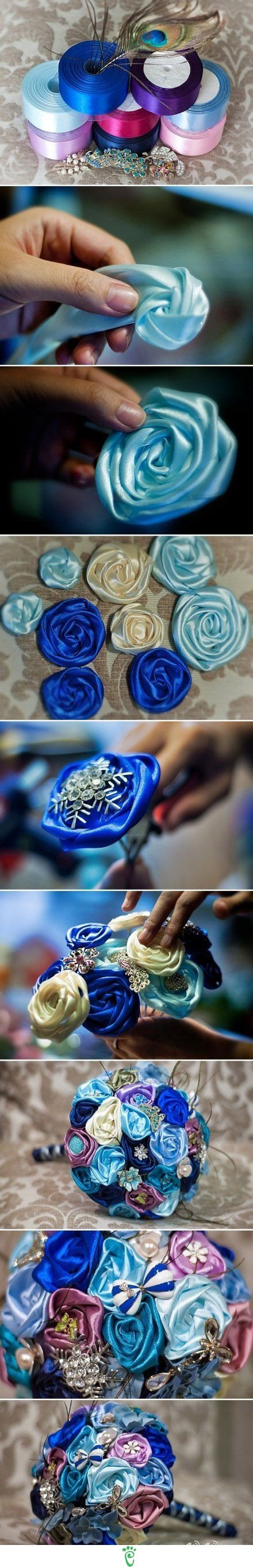 Diy Ribbon Flower Bouquet Pictures Photos And Images For Facebook