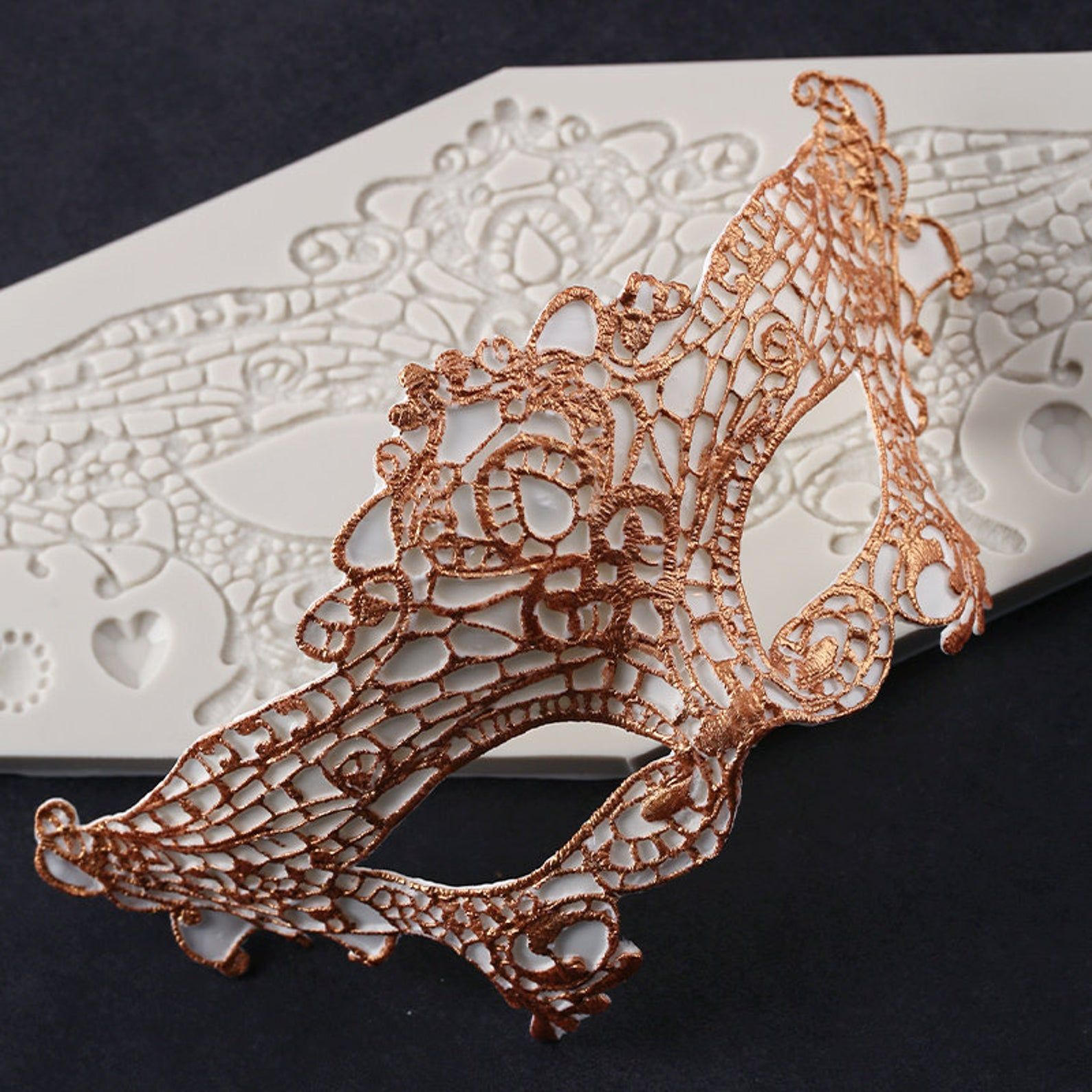 Fancy lace mask silicone mold in 2020 resin molds diy