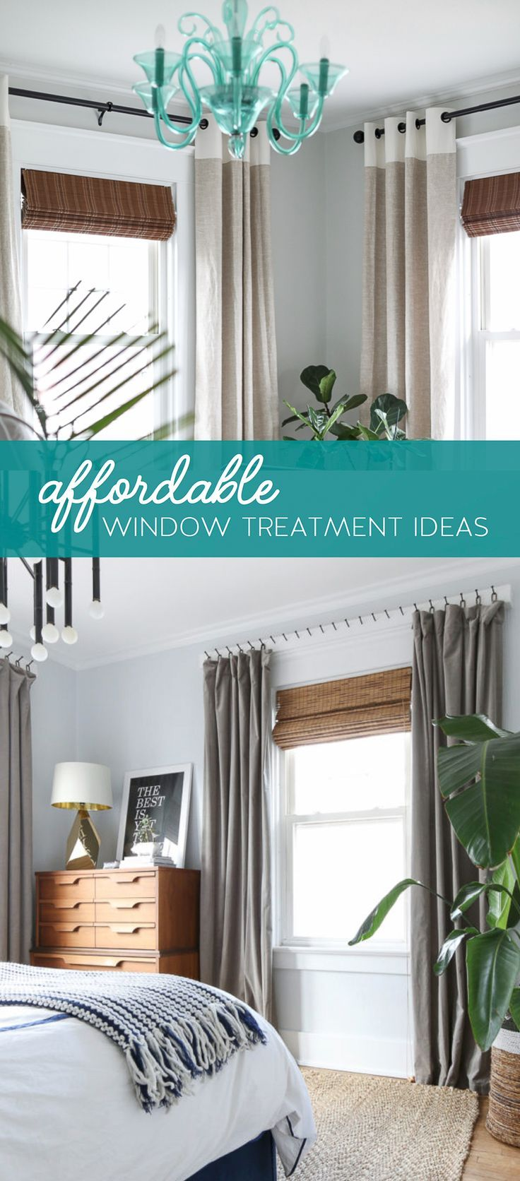 Window covering ideas  affordable window treatments  curtains drapes window treatment