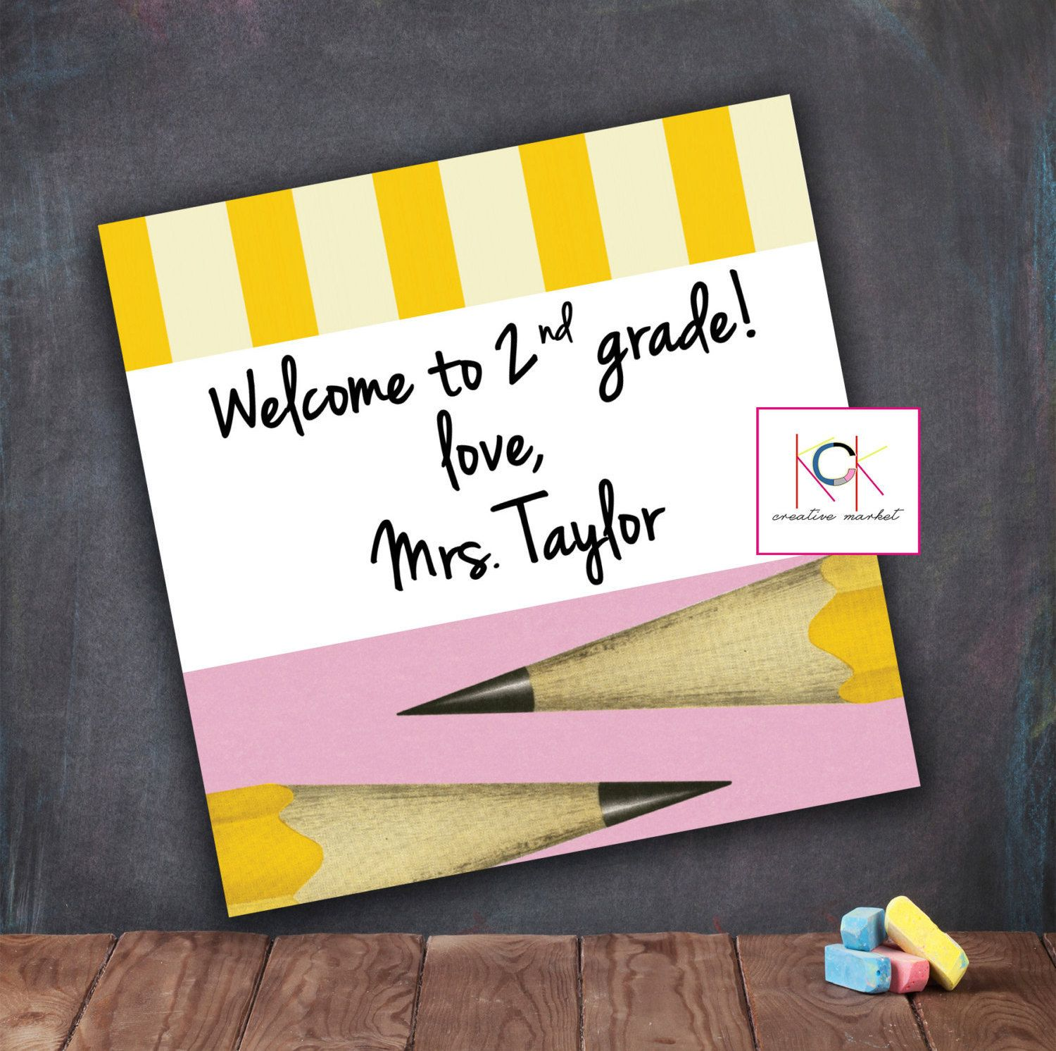 WELCOME BACK to school favor tag, card, gift favor, teacher notes, Kindergarten, 1st Grade, 2nd Grade, Note to students, 1st day of school by KCKCreativeMarket on Etsy