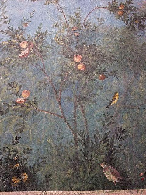 Mural from the triclinium of the Villa of Livia at Prima Porta Roman