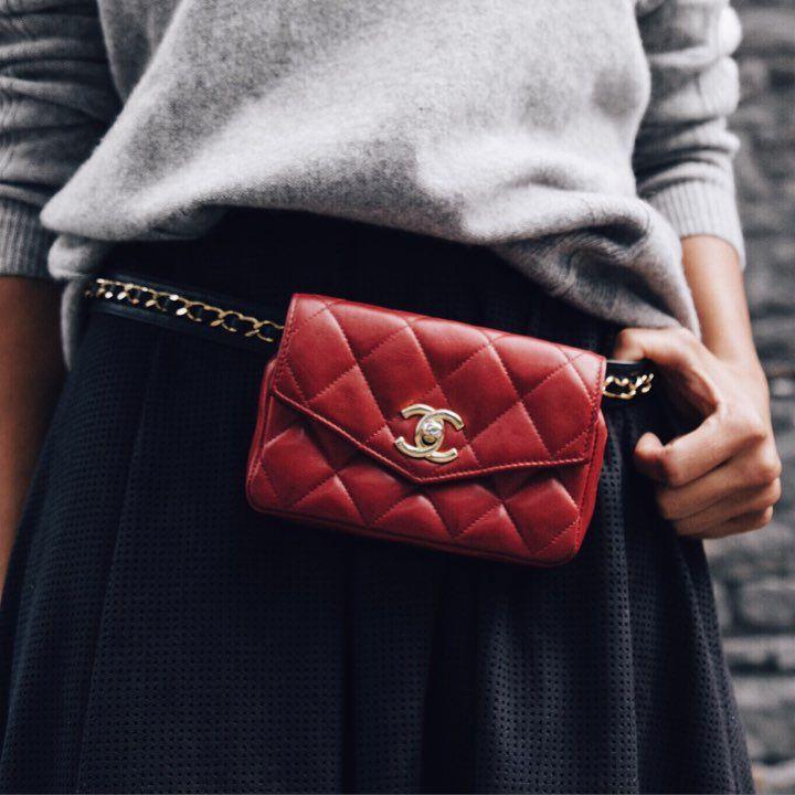 Chanel Belt Bag - a gorgeous vintage bag available at www.lovethatbag.ca