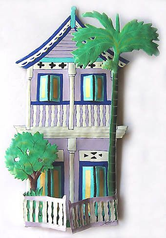 story lilac gingerbread house buy at blue barnacles bluebarnacles also caribbean metal wall decor handcrafted tropical design rh pinterest