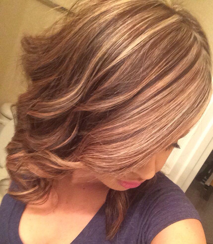 Blonde Highlights On Medium Length Hair