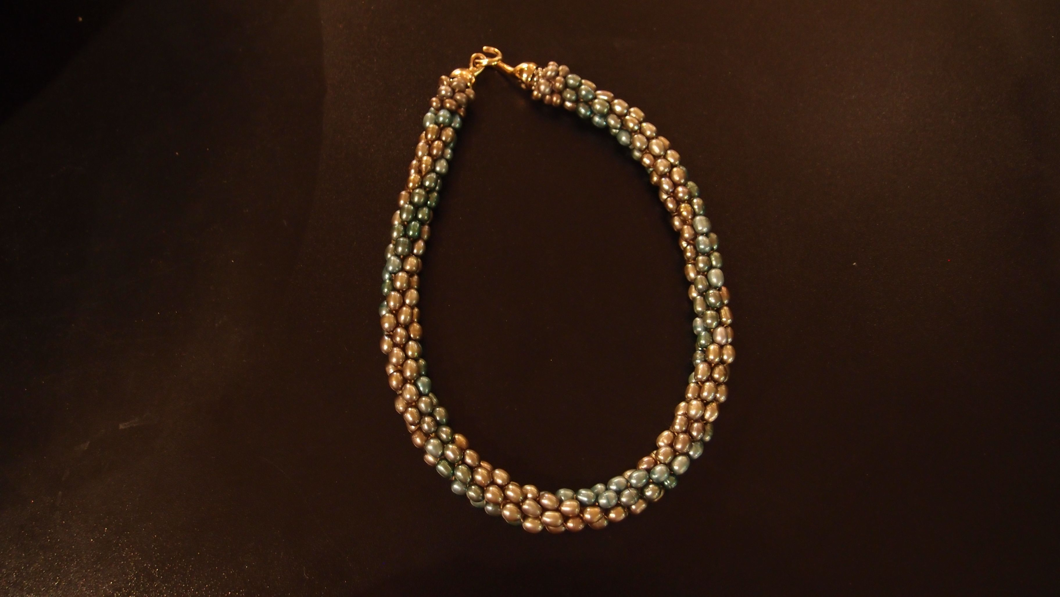 Two Tone Pearl Necklace Julio Pagliani featured at Spirits in the Wind Gallery Golden, CO