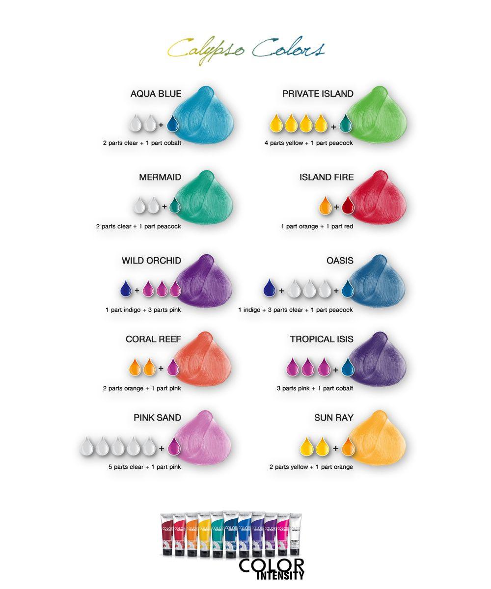 Joico hair color tags color jocio joico - Joico Vero K Pak Color Intensity Calypso Colors Shade Chart
