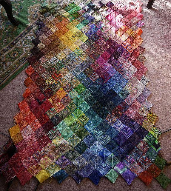 WOW! Ravelry: zephrbabe\'s Mitered Square Sock Yarn Blanket #2 ...