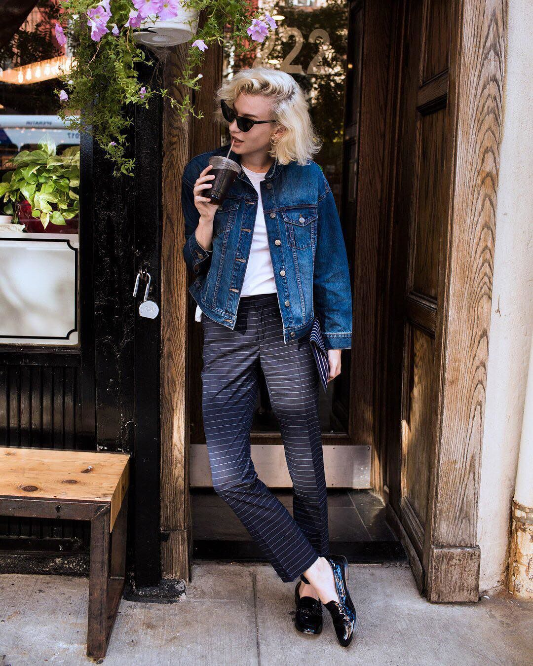 Daring and fashionable - jeans with holes 44