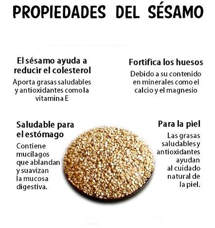 Propiedades de las semillas de sesamo para adelgazar