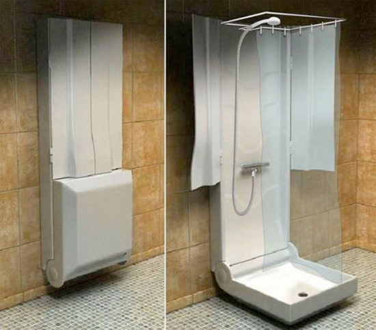 Folding Shower Great Idea For The Outdoor Spigots On Many