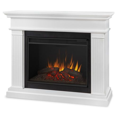 Real Flame Kennedy Grand Electric Fireplace In White 8070e W In