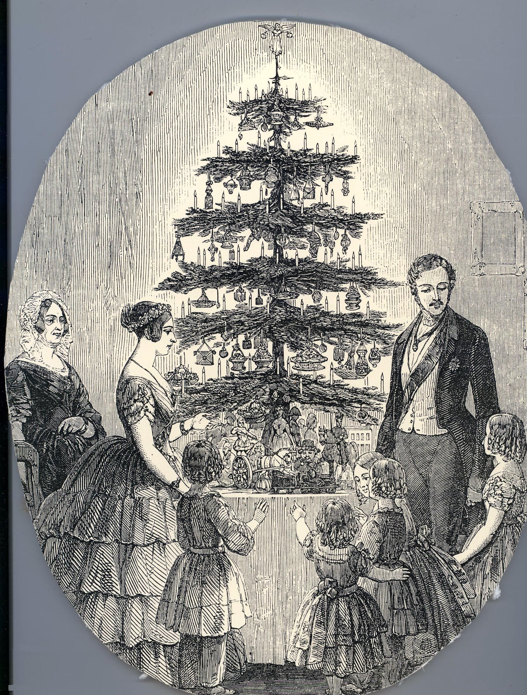 An Front Page Cover Image Of The British Queen Victoria And Her Royal Family With Their Christmas Tree At Victorian Christmas Queen Victoria Christmas History