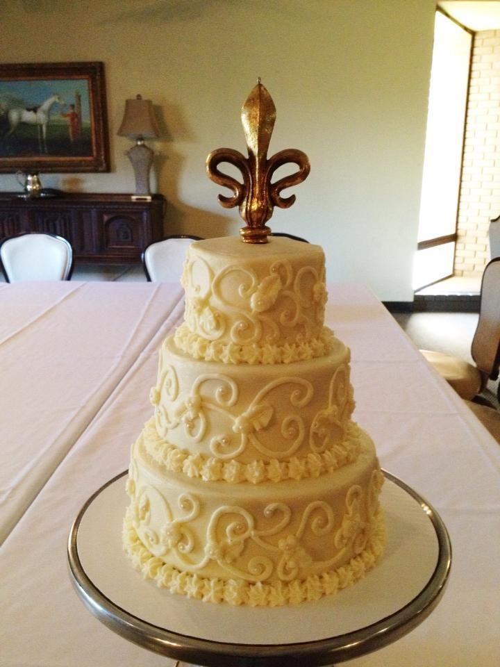 Elegant Fleur De Lis Wedding Bake Your Day Llc Alexandria La Www