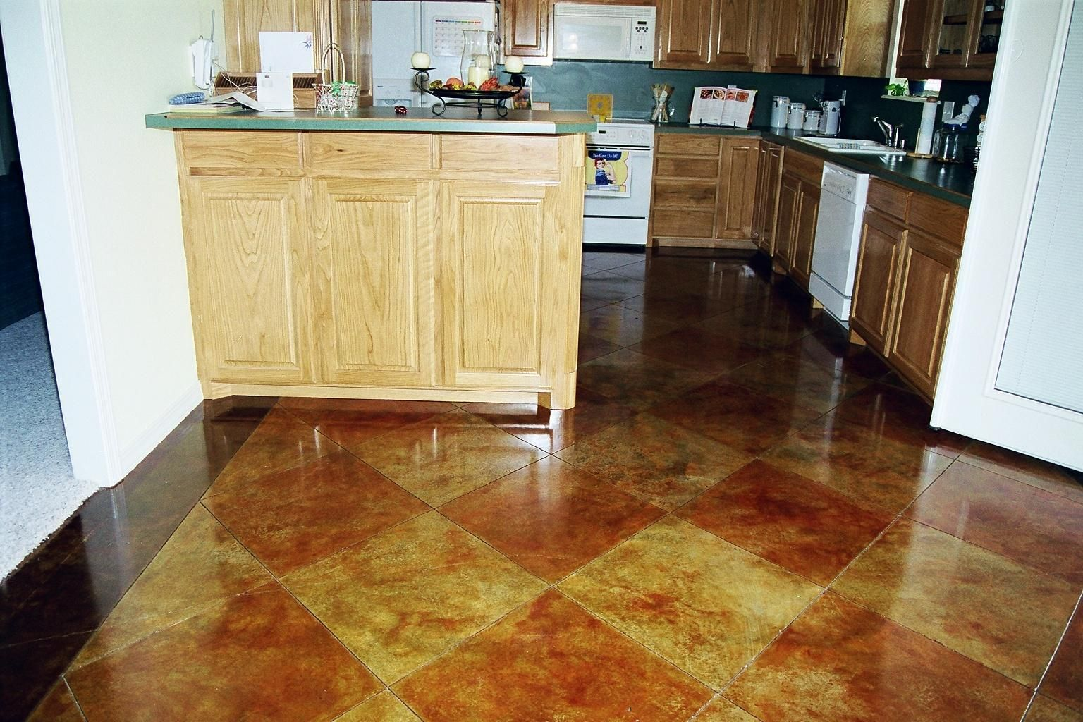 Dazzling Design Inspiration Stained Concrete Floors