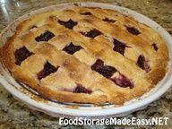 Food Storage Blackberry pie