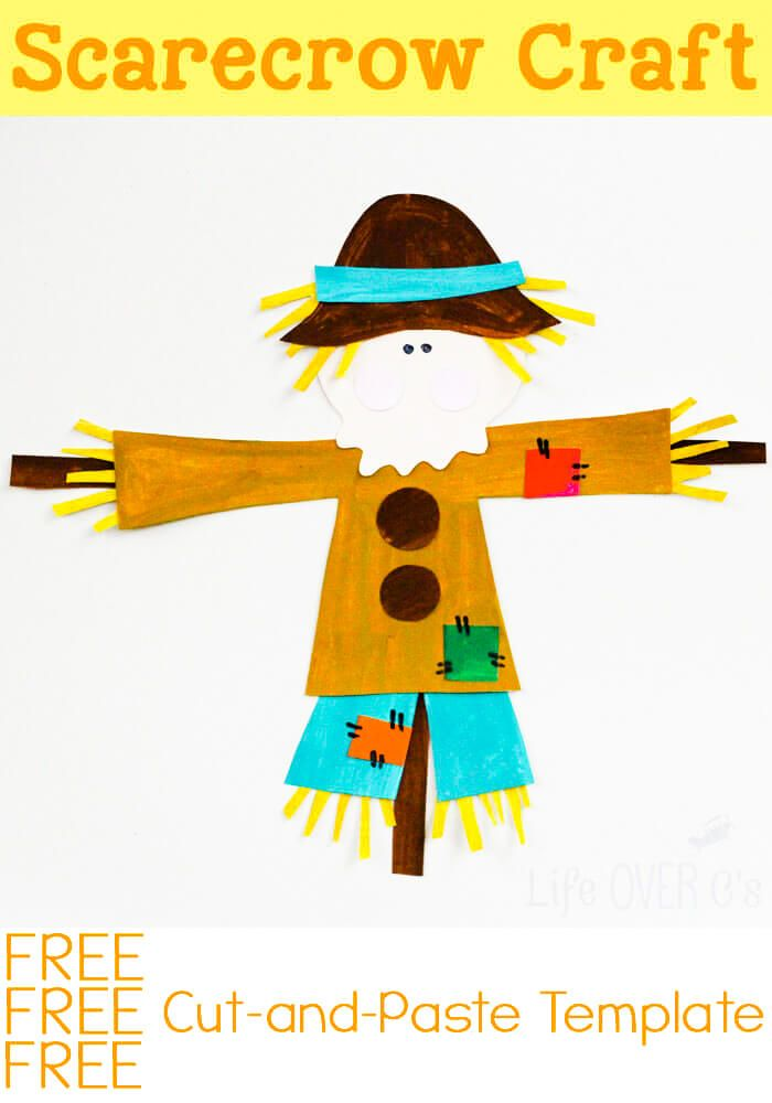 Cut And Paste Scarecrow Craft For Fall