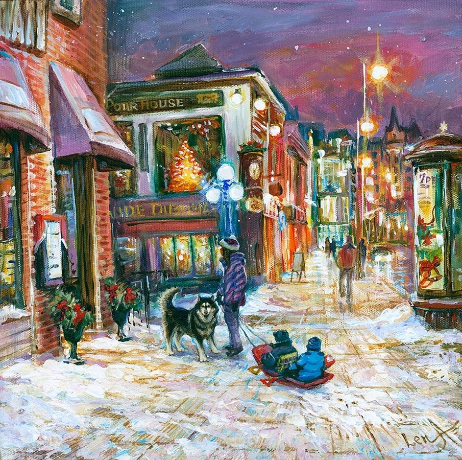 Joyful Ottawa Night Painting by artist Elena Khomoutova