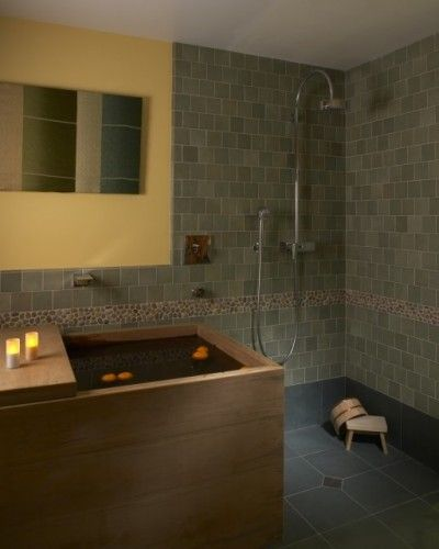This is close to the traditional Japanese bathroom set up - a shower ...