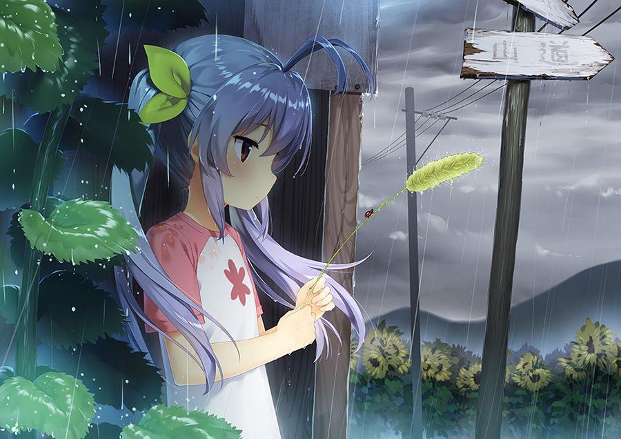 Rainy Day Ren Chon Non Non Biyori Anime Non Non Biyori Aesthetic Anime