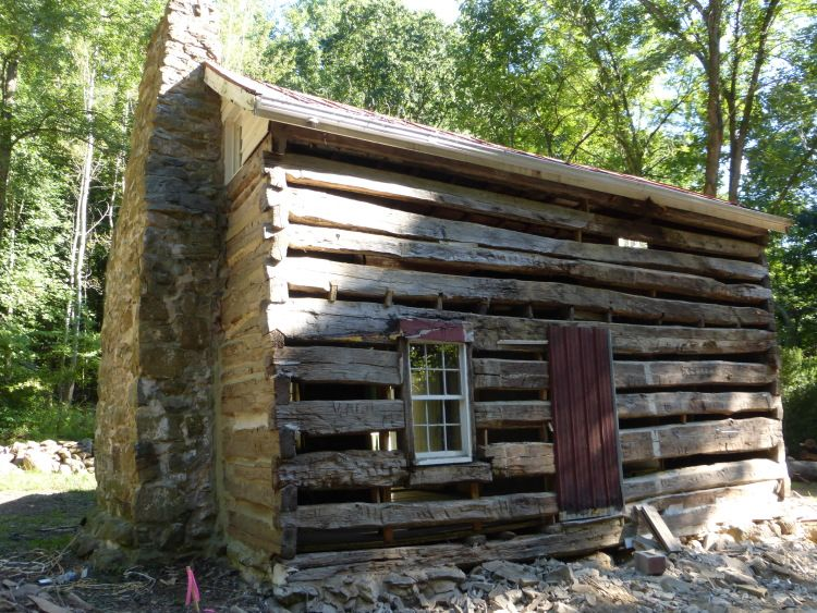 Old Rustic Log Cabin Restoration   Chinking Has Been Removed To Make Way  For The New