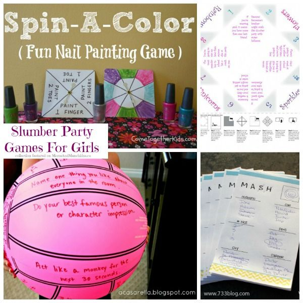 Nail Polish Bottles Fun Sleepover Games And Sleepover: Slumber Party Games For Girls